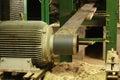 Electric motor belt drive machine part