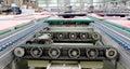 Electric motor and conveyor belt in factory