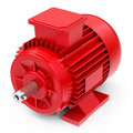 The electric motor d generated picture of an red Stock Photo