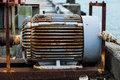 Electric motor the has rust Stock Photos