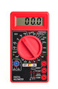 Electric multimeter with digital display on white Royalty Free Stock Image