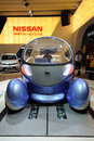 Electric nissan pivo2 vehicles 免版税库存图片