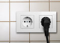 Electric outlet on a wall Royalty Free Stock Photography