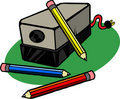 Electric Pencil Sharpener Royalty Free Stock Photo