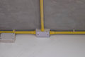 Electric pipe line on celling Royalty Free Stock Photo