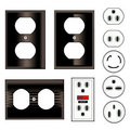 Electric Plugs Royalty Free Stock Photos