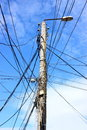 Electric pole Stock Image