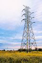 Electric pole at lea standing Stock Photos
