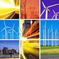 Electric power collage Stock Photography