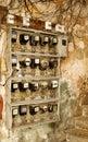 Electric power counters, old Havana, Cuba Stock Photos