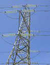 Electric power line Royalty Free Stock Photos