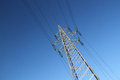 Electric power lines Royalty Free Stock Photo