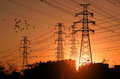 Electric power pylon Royalty Free Stock Photo