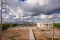 Electric power substation Royalty Free Stock Photo
