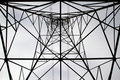 Electric Power Tower center Royalty Free Stock Images