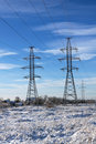 Electric power transmission Royalty Free Stock Photo