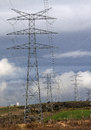 Electric pylon image of an Stock Image