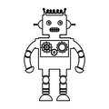 Electric robot avatar character