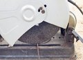 Electric saw for metal cutting Royalty Free Stock Photography
