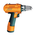 Electric screwdriver or drill Royalty Free Stock Photo