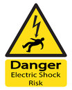Electric Shock Risk Sign With Man Royalty Free Stock Photo