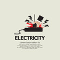 Electric shock vector illustration eps Stock Photos