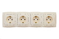 Electric sockets Royalty Free Stock Photo