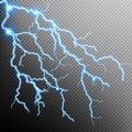 Electric Storm - lightning bolt. EPS 10 Royalty Free Stock Photo
