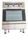 Electric stove ii oven over white background Royalty Free Stock Photos