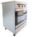 Electric stove v oven over white background Royalty Free Stock Photo