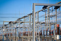 Electric substation and distribution power Royalty Free Stock Photo