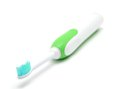 Electric toothbrush on a white background closeup shot Stock Images