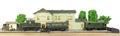 Electric train railway station miniature Royalty Free Stock Photo