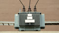 Electric transformer high voltage the Stock Photos