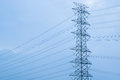 Electric transmission tower high voltage post Royalty Free Stock Image
