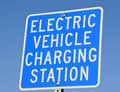 Electric Vehicle Charging Signage Stock Photography