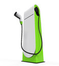 Electric vehicle charging station isolated on white background d render Stock Photos