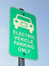 Electric Vehicle Parking Signage Royalty Free Stock Image