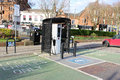 Electric vehicle recharging point in ayr scotland burns statue square south ayrshire with adjacent dedicated parking places Stock Photography