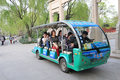 Electric vehicle in west lake hangzhou china for alternative transportation Royalty Free Stock Photos
