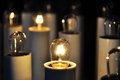 Electric votive candles Royalty Free Stock Photo
