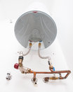 Electric water heater inside a house detail Stock Image