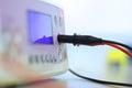 Electrical box in molecular biology lab