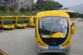 Electrical buses in China Royalty Free Stock Photos