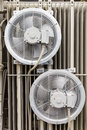 Electrical cooling fans Royalty Free Stock Photo