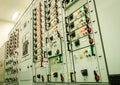Electrical energy substation Royalty Free Stock Photo