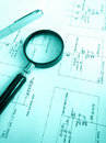 Electrical engineering circuit plans Royalty Free Stock Photo