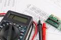 Electrical engineering drawings, electronic board and digital mu