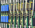 Electrical equipment, printed boards in network server data center, telecommunications equipment Royalty Free Stock Photo