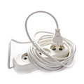 Electrical extension cord on a white background Stock Photography